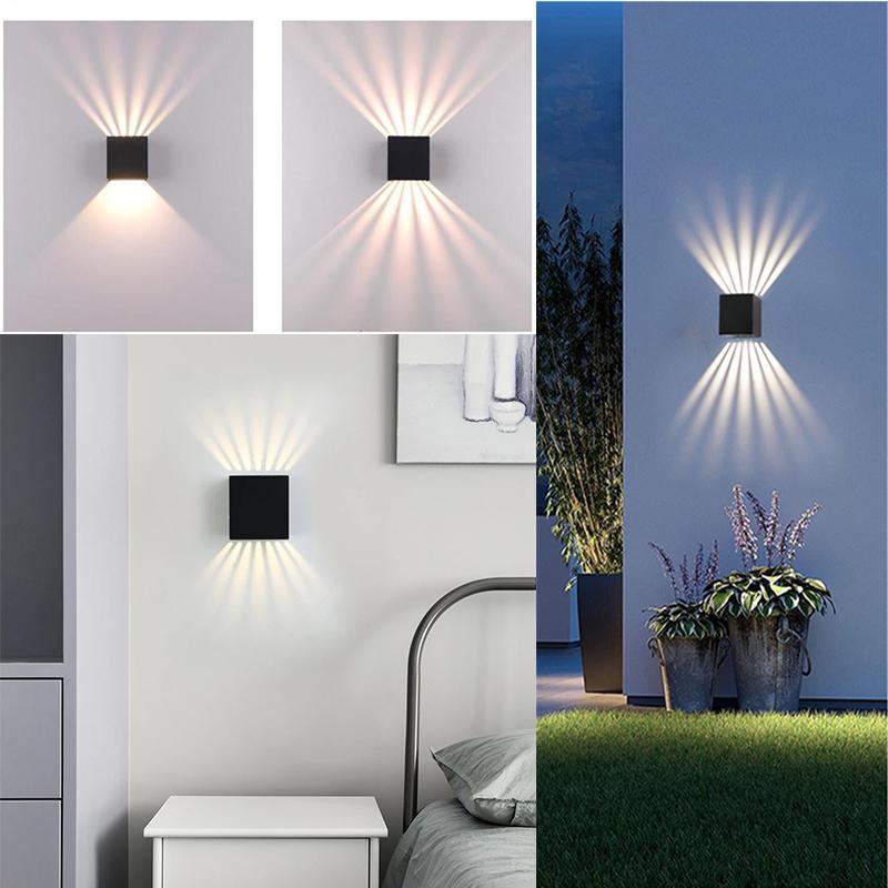 Lampe murale LED Etanchéo-étanche IP65 Porch Lights Jardin Sconce Balcon Terrasse Décoration Éclairage Lumière