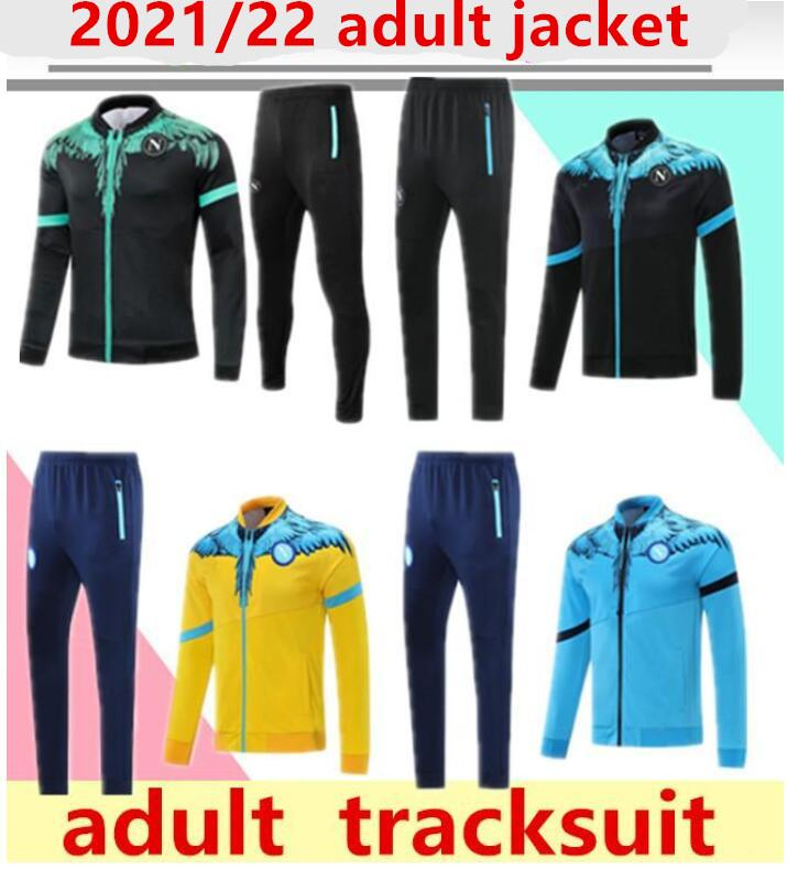 2021/22 Napoli Eşofman Ceket Hoodie Futbol Jersey Zielinski 21/22 SSC Napoli Uzun Fermuar Ceket Seti Veste Suit