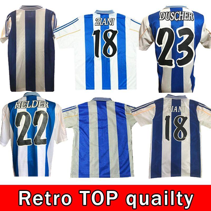 Top 1999 2000 Deportivo de la Coruña Retro Fussball Jersey 99 00 Coruna Valeron Makaay Bebeto Bitinho Classic Vintage Football Shirt