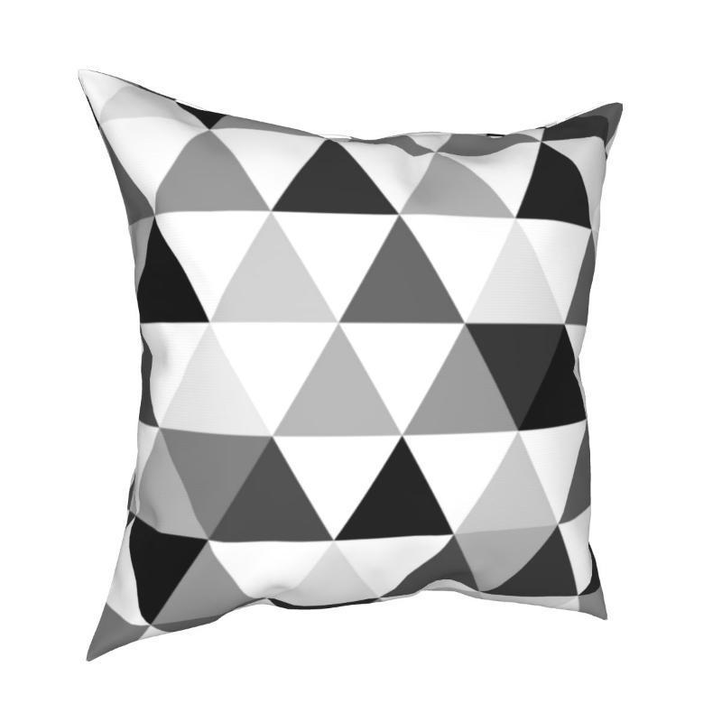 Kissen / dekorative Kissen-Dreiecke in schwarzen weißen Abdeckungen Raum Geometrische Op-Kunst-Pyramide Nordic-Kissen Fall Home-Dekoration Wurf 45 * 45