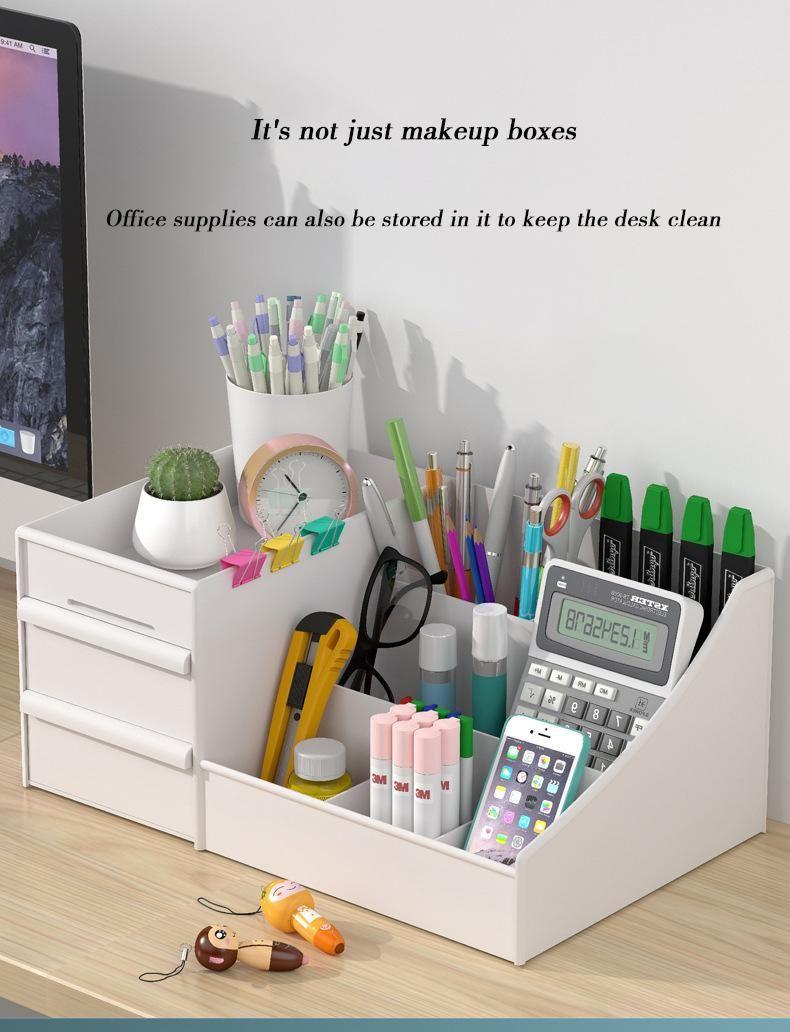 Organizador de mesa para escova escova de maquiagem cosméticos os organizadores do banheiro caixas de armazenamento caixas