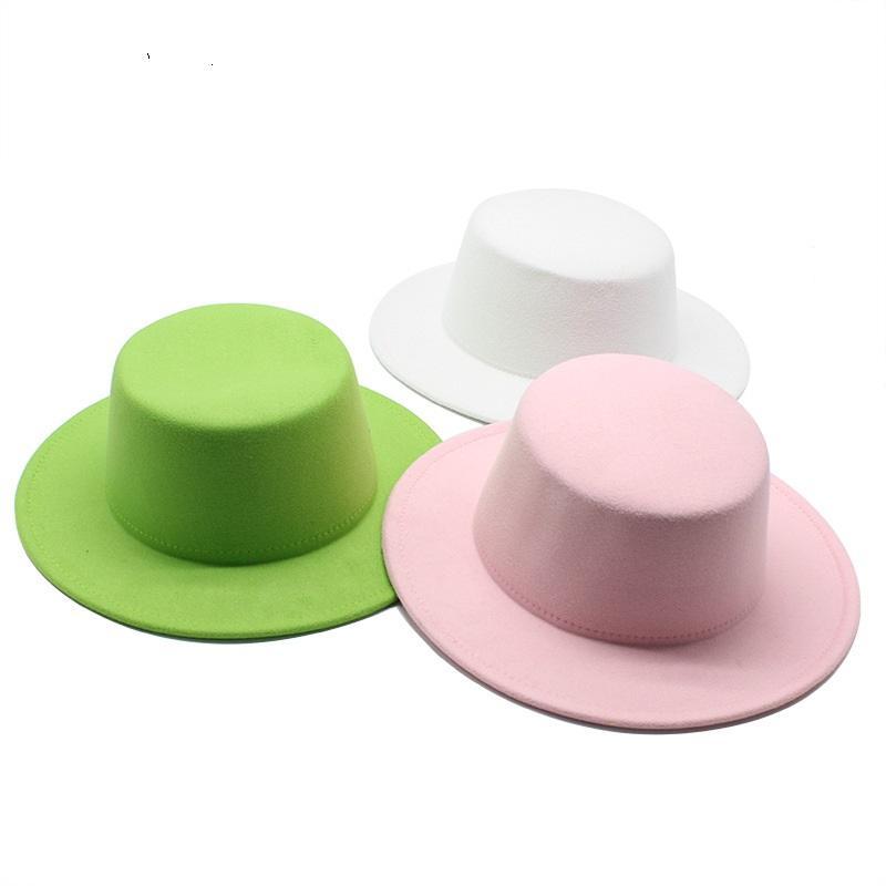 9 ألوان رجالي الأعلى القبعات شعرت النساء فيدورا قبعة الشتاء تقليد الصوف أنثى شعرت قبعة الكلاسيكية البريطانية موسيقى الجاز الشارع الشهير القبعات