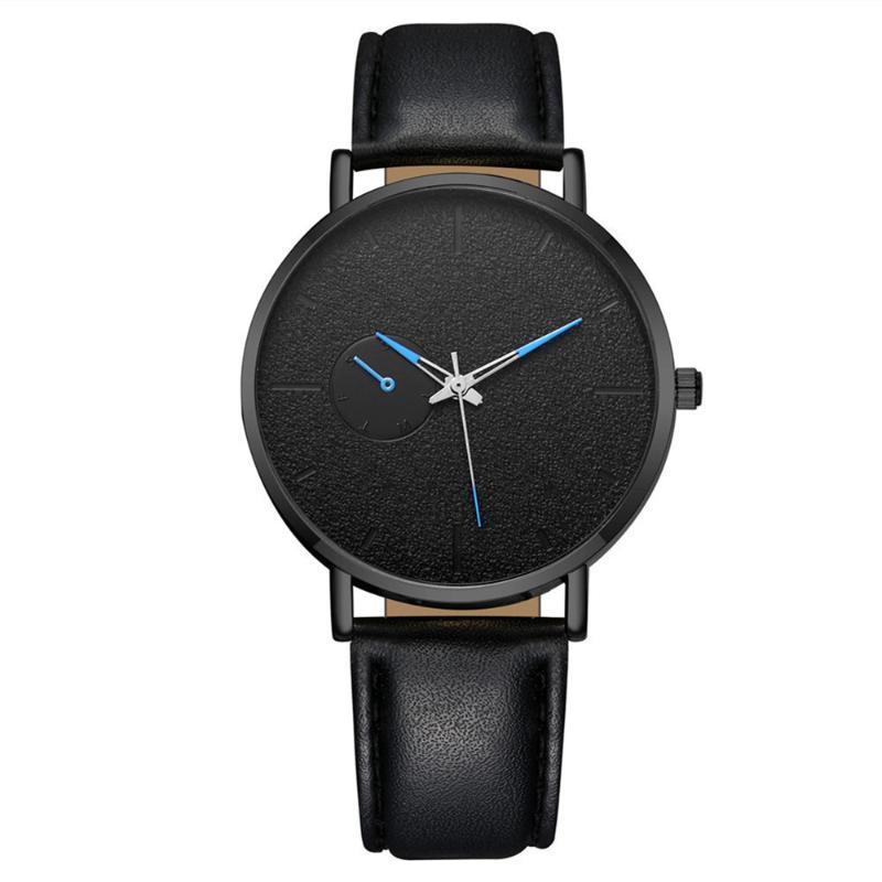 Armbanduhren Einfache Herrenuhr PU Leder Gürtel Kleid Lässige Mann Quarz Sport Armband Männliche Uhr Relogio Masculino C022