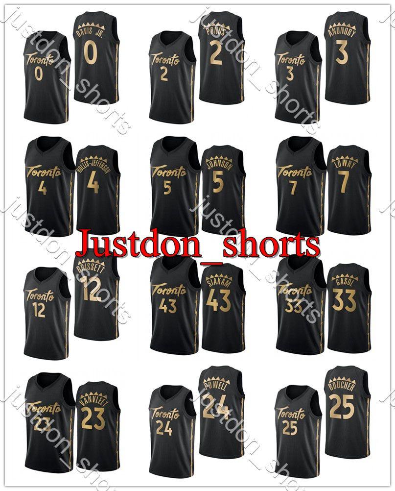 Lowry 7 Siakam 43 Vanviet 23 Ibaka 9 McCaw 22 Len 27 Boucher 25 Baynes 46 Flynn 8 Anunoby 3 Hot Press City New Edition Basketball Jerseys