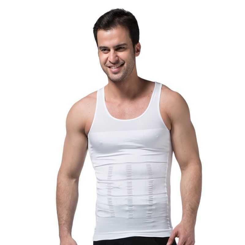 Herren Abnehmen Körper Shapewear Korsett Weste Hemd Kompression Bauch Bauch Bauchsteuerung Slim Taille Cincher Unterwäsche