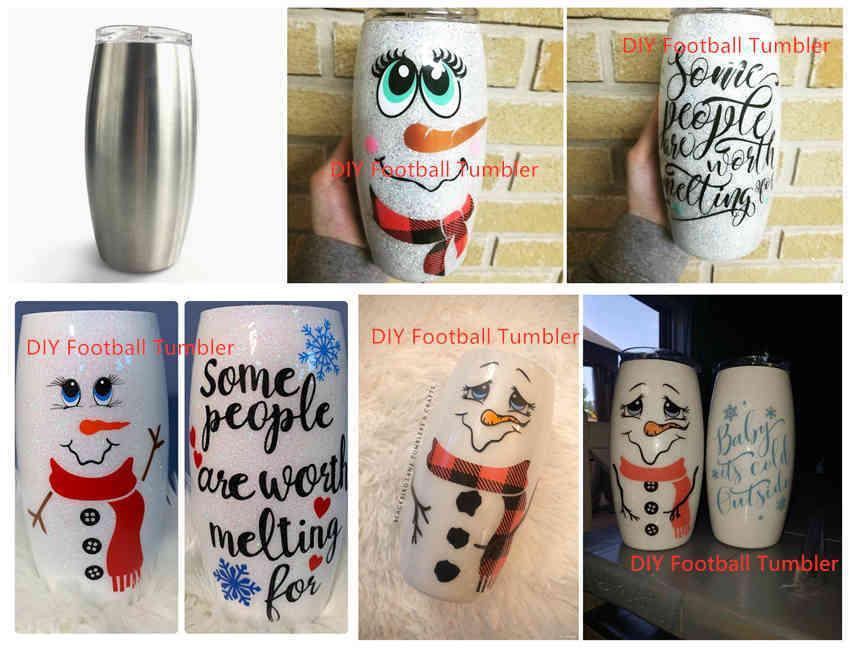 أكواب diy 25oz football 25 ution ثلج بهلوان سيميل الزجاج فراغ معزول البيرة كأس الفولاذ المقاوم للصدأ النبيذ tumblers الفضة {فئة}