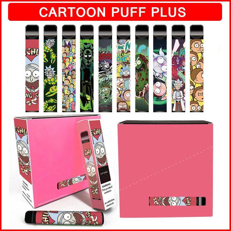 만화 플러스 일회용 전자 담배 800 퍼프 550mAh 배터리 vape 펜 3.2ml 포드 카트리지 전자 담배 장치 퍼프 바 바