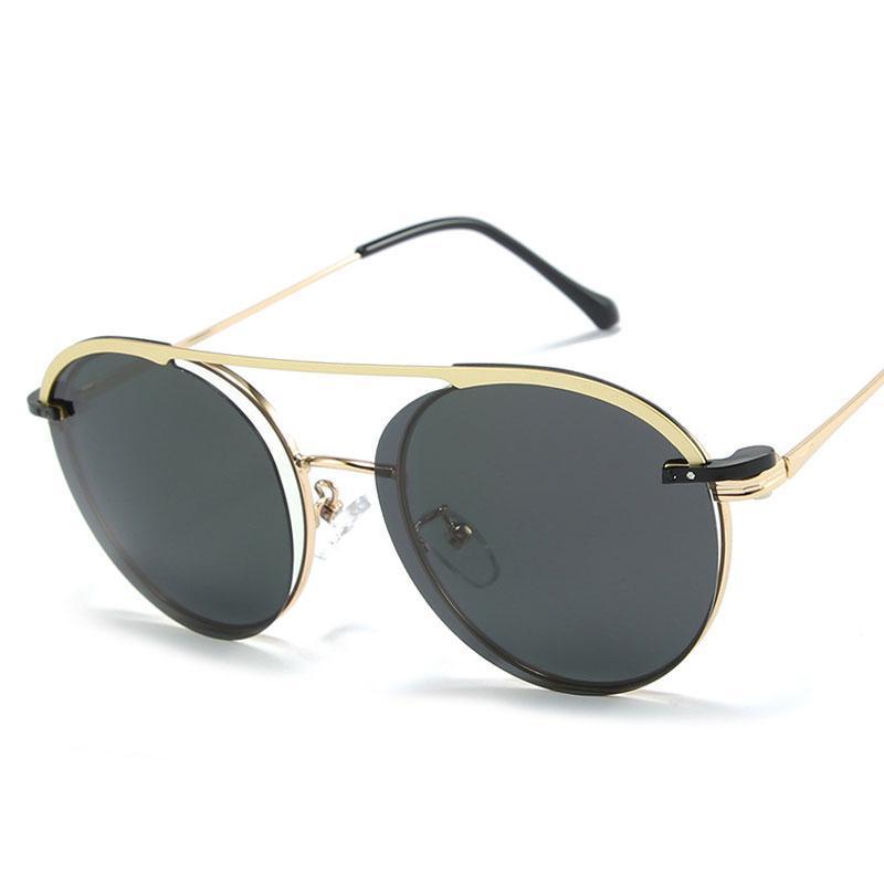 Flip capa magnética atração polarizada óculos de sol homens moda moda uv400 óculos