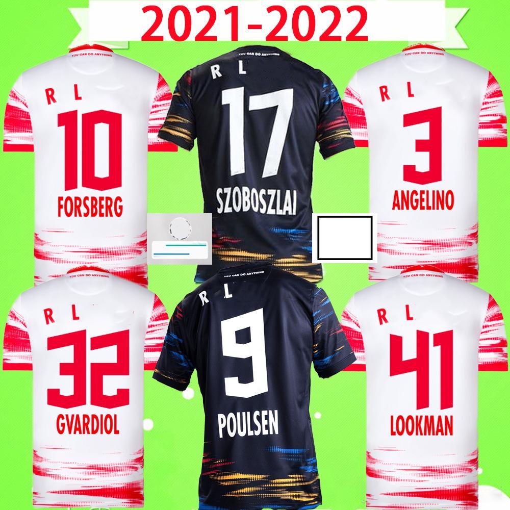 Camisas de Futebol RB LEIPZIG 21 22 SABITZER SØRLOTH Camiseta HEE-CHAN Maillot UPAMECANO FORSBERG POULSEN OLMO ORBÁN 2021 2022 Kits de Camisas de Futebol ANGELINO Uniforme home