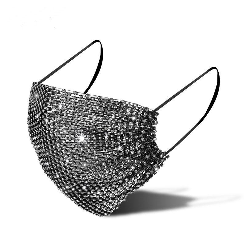 Designer Strass Mask Maschere brillanti di lusso per le donne Tide Street Party Night Club Facewear 11 Colori 292 S2