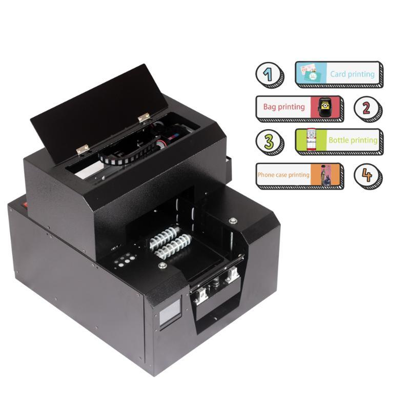 Printers Cylindrical Flatbed Two-in-one Inkjet Printer A4 Touch Design For Card/wallet/mobile Phone Case/bottle Printing