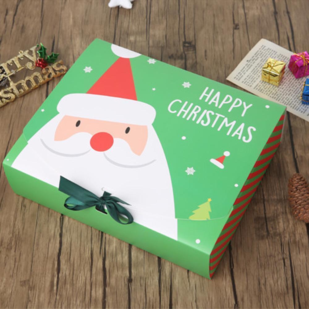 عشية عيد الميلاد هدية كبيرة علبة سانتا كلوز الجنية تصميم كرافت papercard الحاضر حزب صالح النشاط الأحمر هدايا الخضراء حزمة مربعات GWF8704