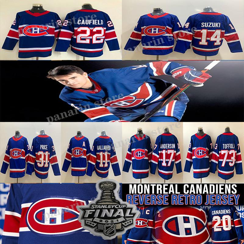 Montreal Canadiens Jersey 2020-21 Reverse Retrô 22 Cole Cole Caufield 14 Nick Suzuki 31 Carey Preço 73 Tyler Toffoli 11 Brendan Gallagher Hockey Jerseys