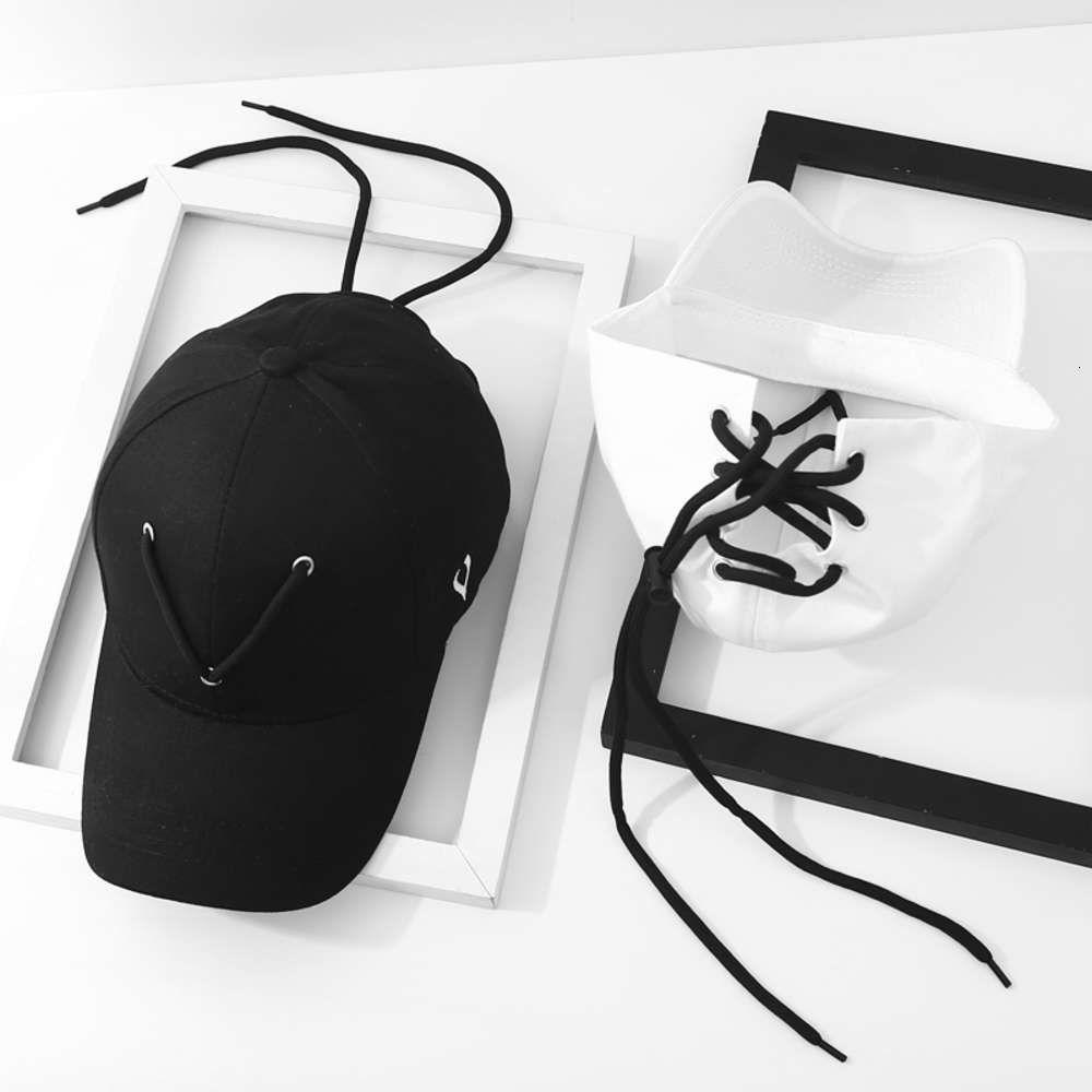 Capwang Jiaer's Mismo Sombrero Moda de béisbol de béisbol de béisbol blanco y negro Ifashion Hip Hop Cap