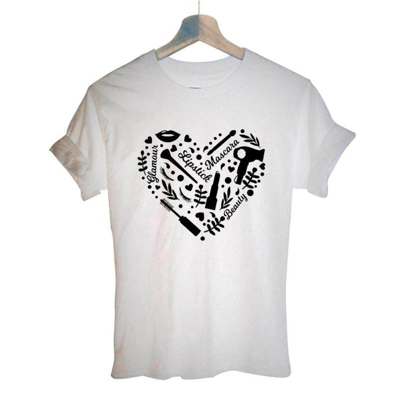 Saç Stilisti Kısa Kollu Vintage Saç Modelist Kuaför T-shirt Kadın Komik Pamuk Makas T Shirt Üst Tee Artı Boyutu Giysileri Kadın