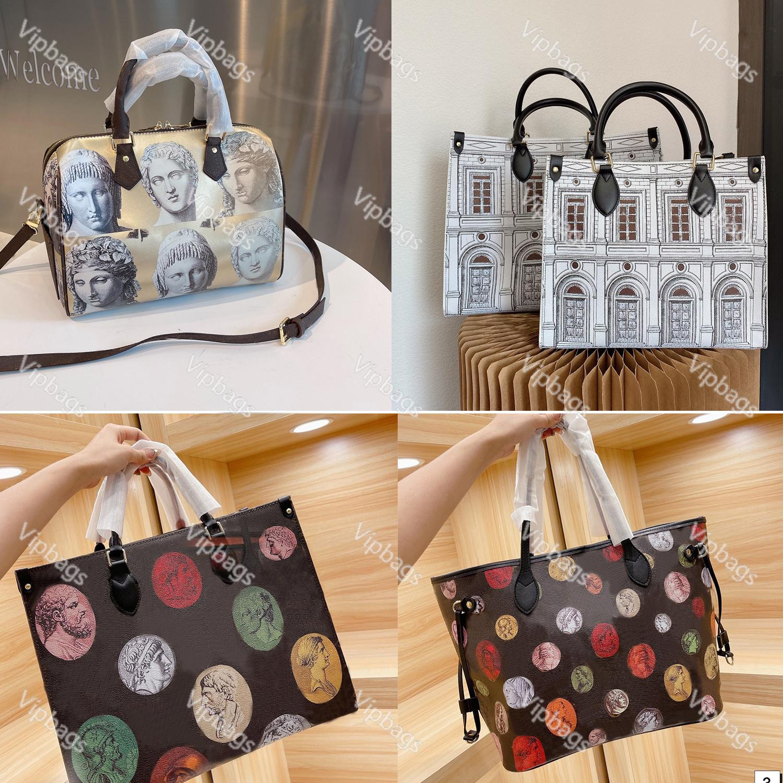 Art painting Designer Handbags Shoulder Bags Women Leather Crossbody Purse Shopping Tote High-capacity Fashion pochette