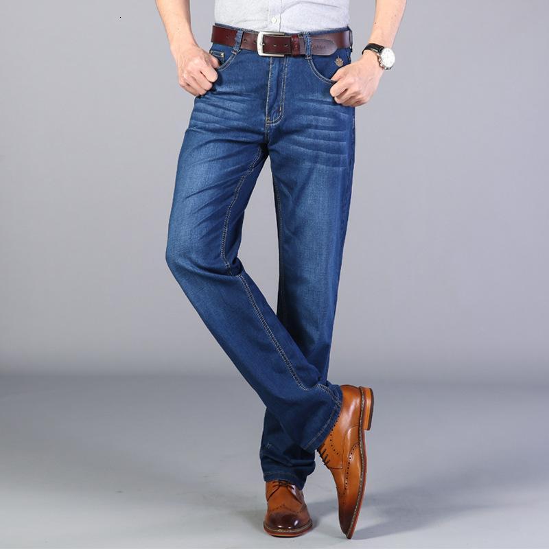 Jeans solta novo lazer na primavera e no verão médio envelhecido em linha reta calças masculinas lavadas pantsqz7f