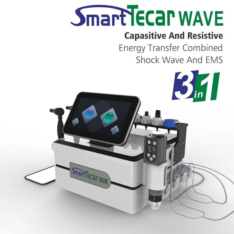 바디 통증을위한 휴대용 건강 아름다움 장비 충격파 Tecar Duathermy 물리 치료 기계