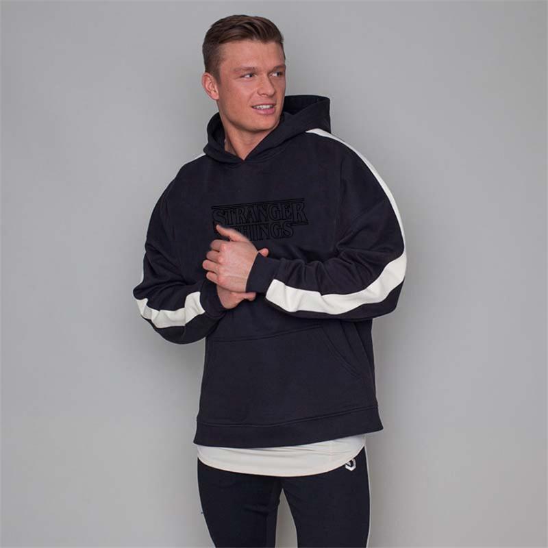 Herren Hoodies Sweatshirts Hohe Qualität 2021 Patchwork Sweatshirt Hoodie Farbe Straße Tragen Harajuku Baumwolle Wolle Winter Herbst Schwarz