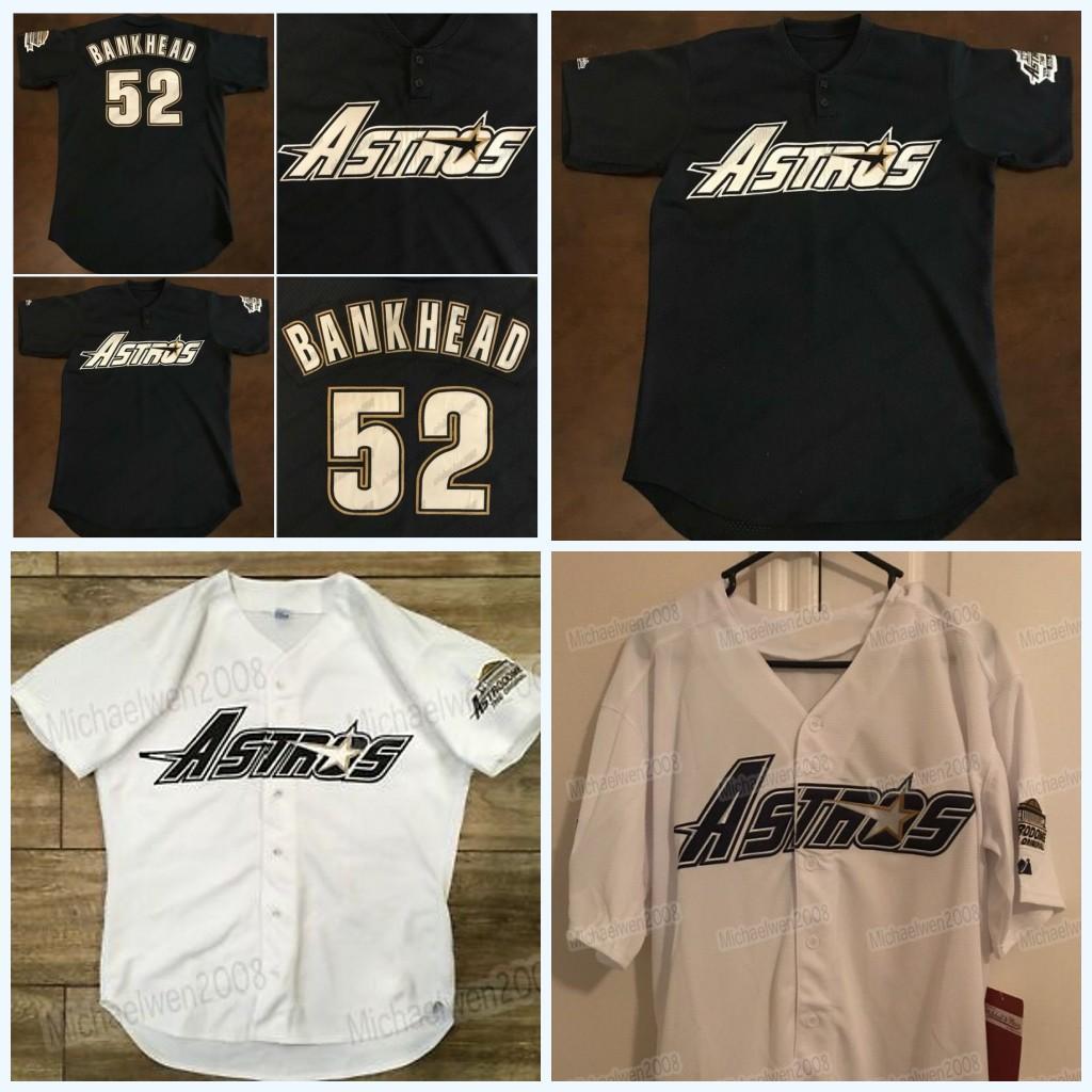 Scott Bankhead Rare Vintage 1996 Astros Throwback Jersey 100 % 스티치 맞춤형 망 여성 청소년 고품질