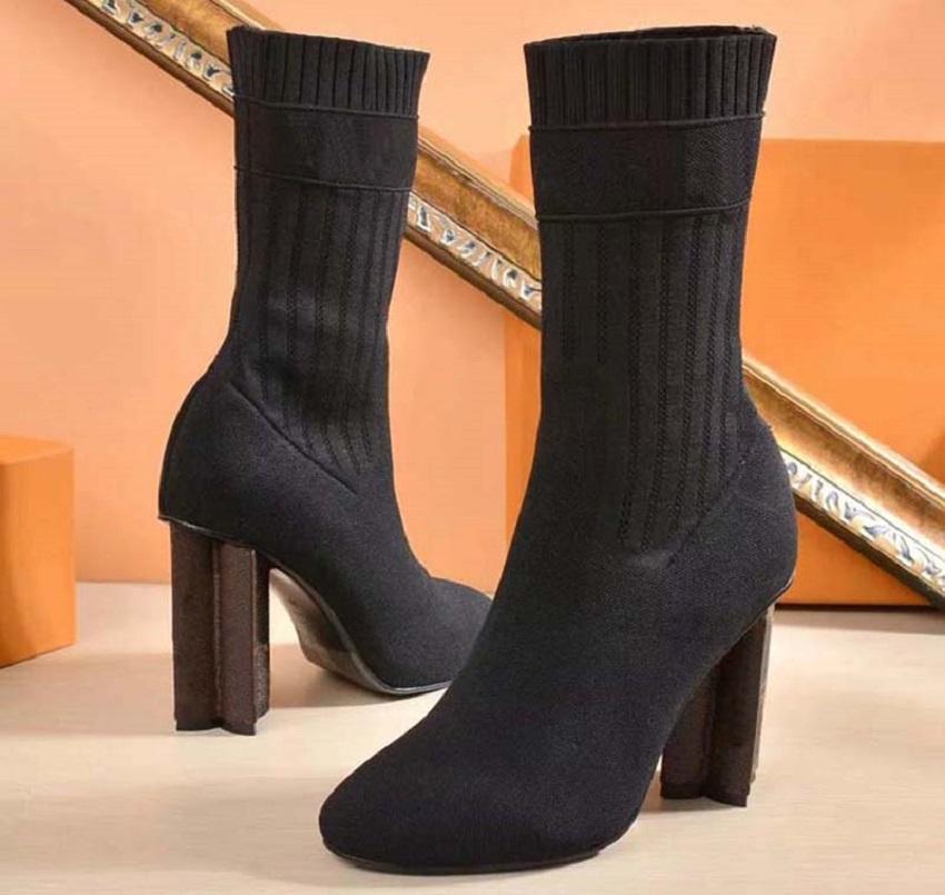 Zapatos de marca de lujo botas de diseño tacones altos y cuero genuino al aire libre moda para mujer boot by home011 51