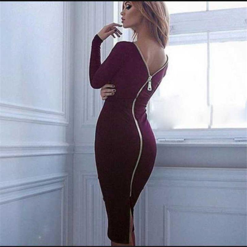Kadınlar Oymak Seksi Bodycon Elbiseler Kısa Kollu Yaz Mini Lady Parti Moda Kılıf Düz Renk