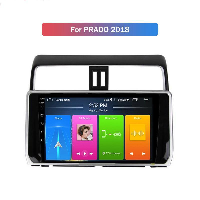 BT 자동 헤드 유닛이있는 Toyota Prado 용 더블 DIN 스테레오 WIFI GPS 안드로이드 10.0 자동차 DVD 플레이어