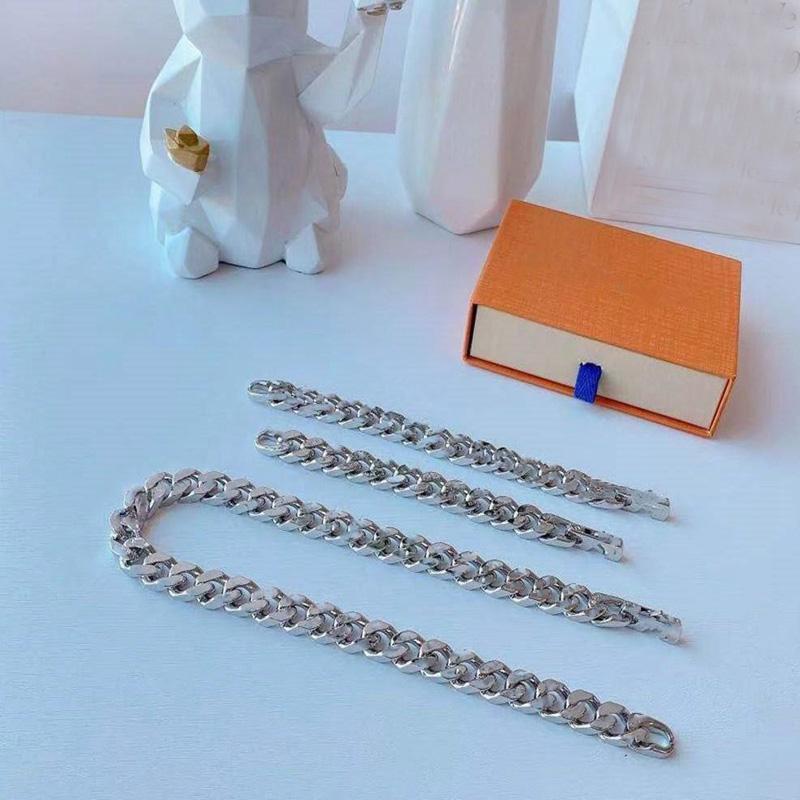 Braccialetto di design del polsino di lusso gioielli di moda di alta qualità argento in acciaio in acciaio in acciaio amanti rifornimento personalizzato hip hop