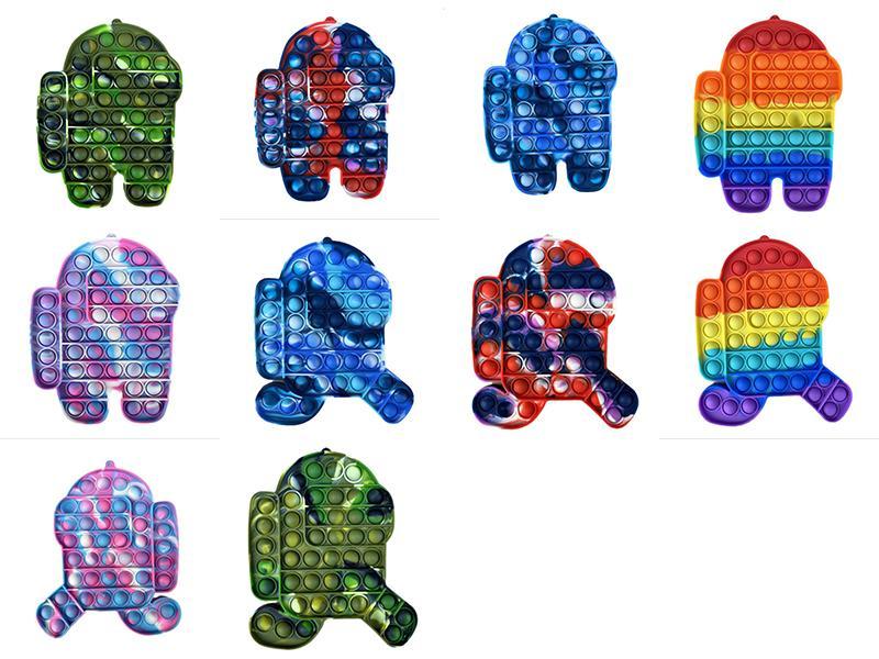 حزب البوب تململ اللعب rainbow فقاعة الحسية التوحد الاحتياجات الخاصة الإجهاد المخلص انها ضغط لعبة للأطفال عائلة dhl بسرعة
