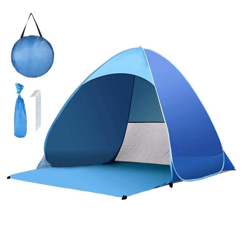 خيمة الشاطئ خفيفة قابلة للطي التلقائي مفتوحة الأسماك السياحية الأسماك للحديقة التخييم خيام نزهة والملاجئ