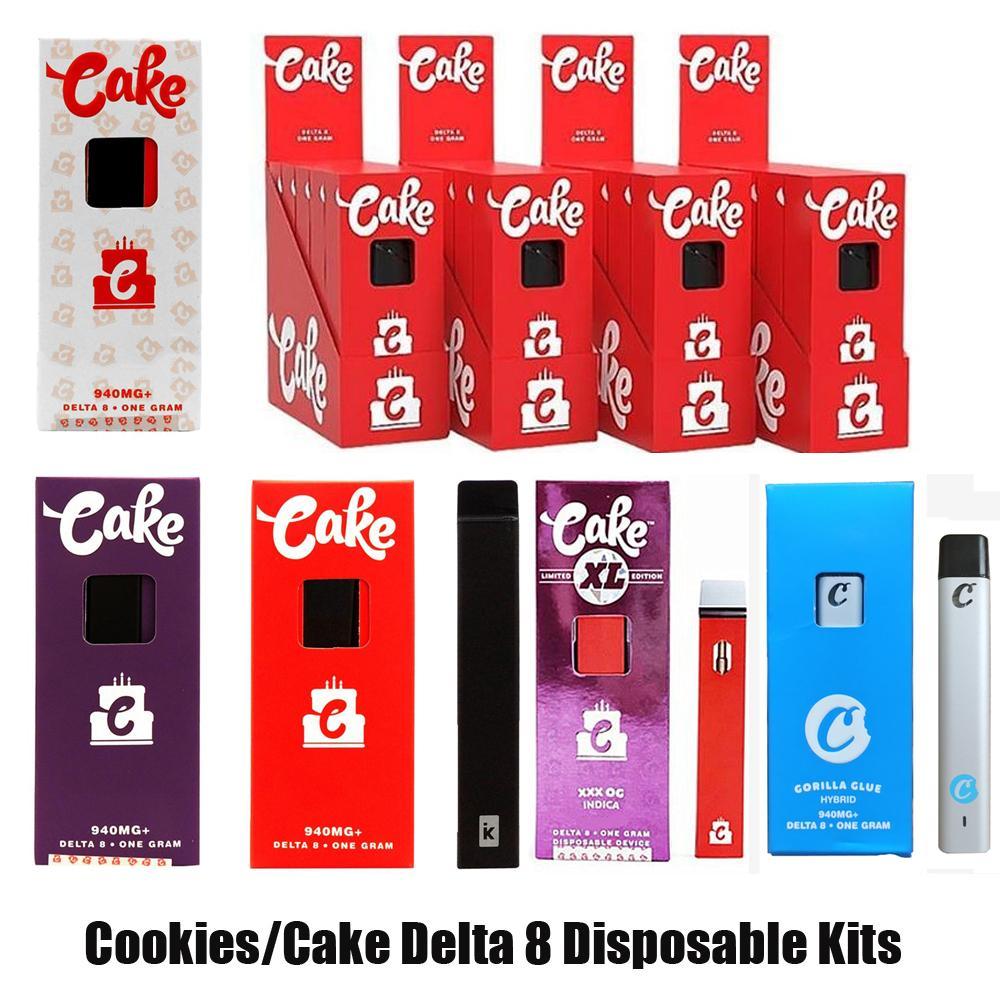 Galletas Cake XL Opus Delta 8 Kit de inicio desechable E Cigarrillos Device1ML Capacidad Vacío Vape Recargable Vape Pen 300mAh Batería para aceite grueso OEM 9 10 vs Bar Plus XXL