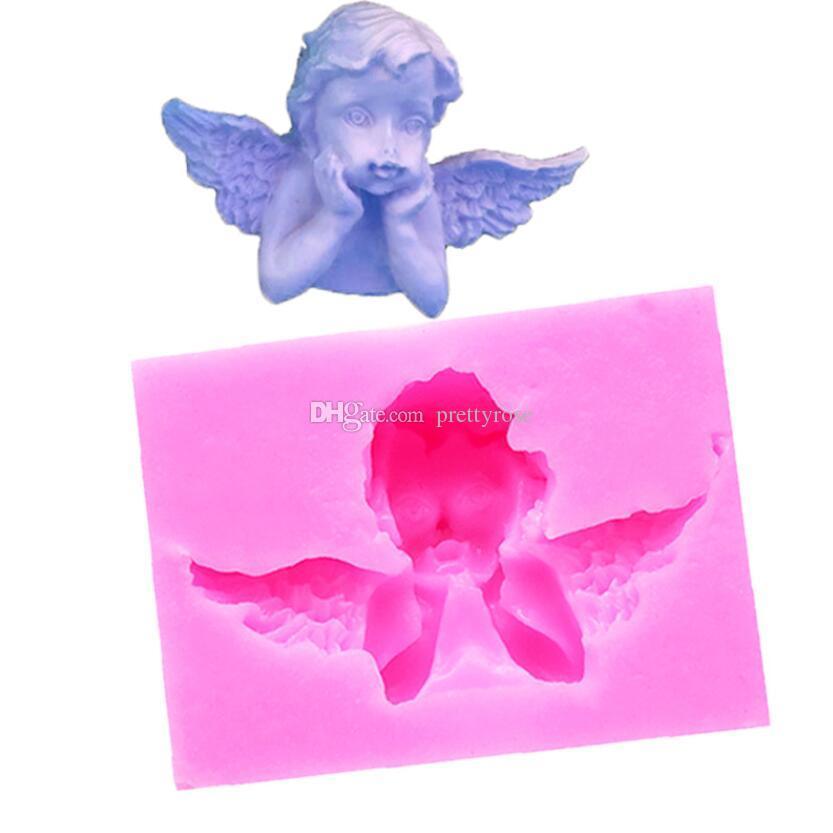 DIY Silicone Fondant Pastel Cupido Little Angel Moldes Pastel de decoración de pastel Herramientas Molde de chocolate Mini estilo Candy Clay Molde