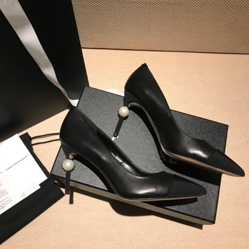 Pearl Ferse spitz High Heels Frauen 2021 Herbst Farbe Matching Stiletto Pumps Kleid Schuhe