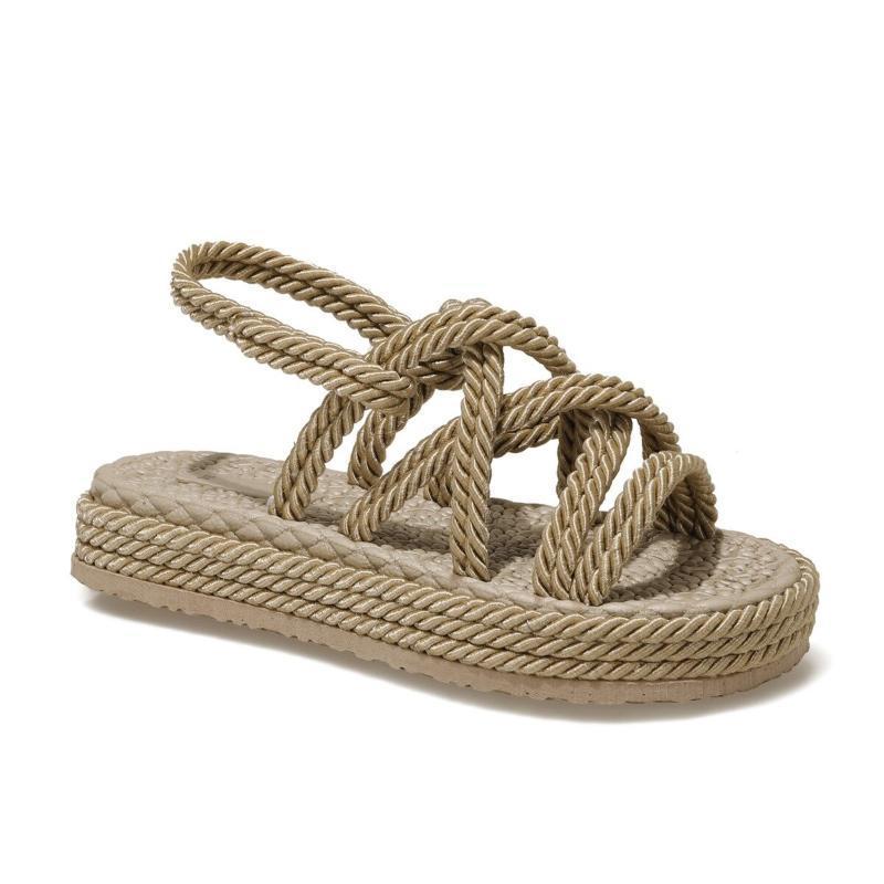 Sandalen 2021 Sommer Frauen Bej Red White Black Beach
