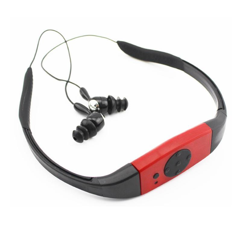 & MP4 Players High Sound Quality 4G/8GB IPX8 Waterproof MP3 Player Radio FM Head Wearing For Diving Swim Surfing Underwater Sports Music