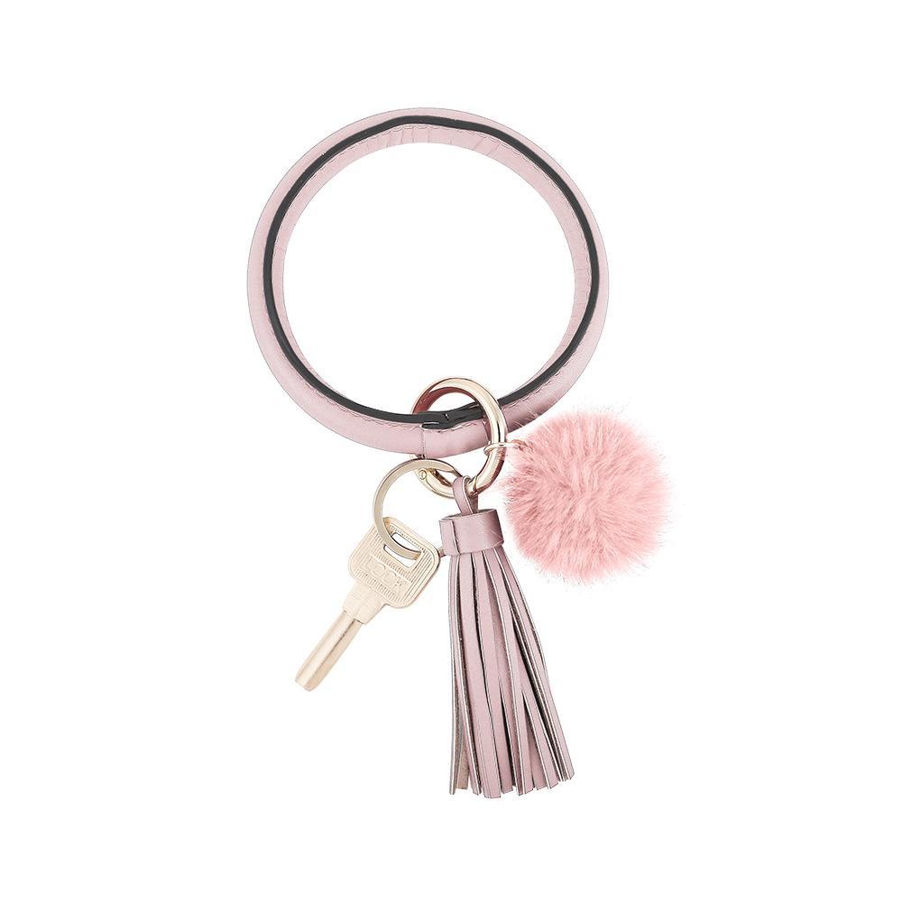 Bracelet Poignet Porte-clés Porte-clés Favoris Favoriser les bracelets de grains de grain léopard Couleurs Pure Clé Clé Clé Européenne et américaine Cuir KKB7108