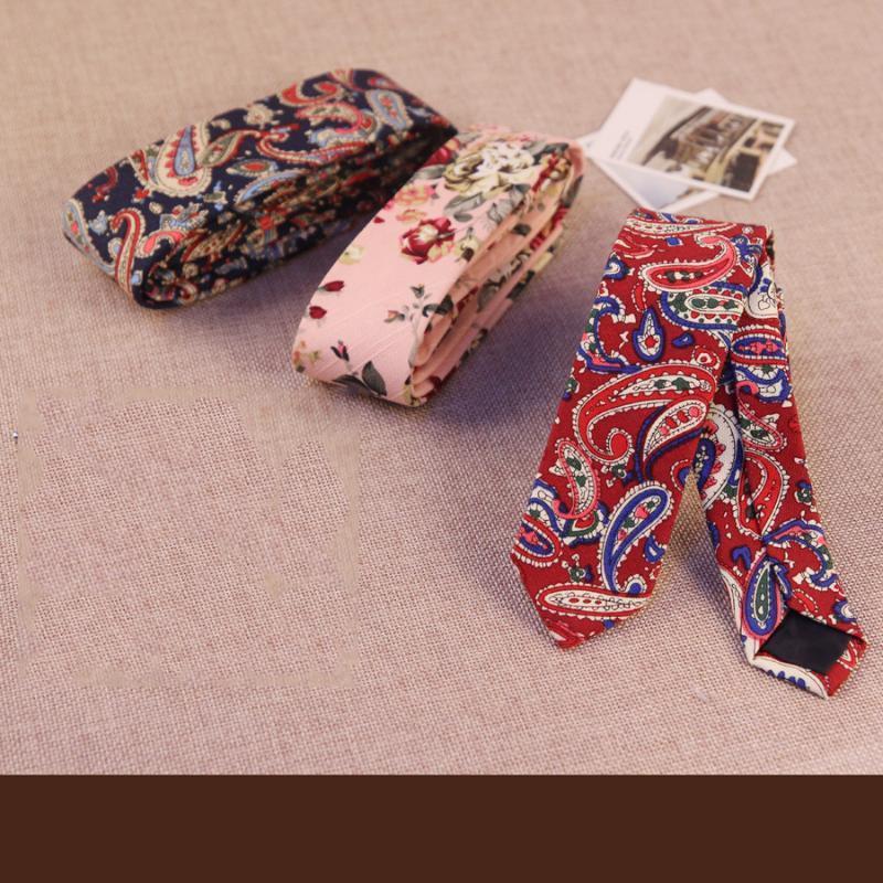 Erkekler Için 5 cm Boyun Kravat Ince Çiçek Baskılı Kravat Damat Dar Cravat Örgün Kravatlar Corbatas Özel Logo Bağları