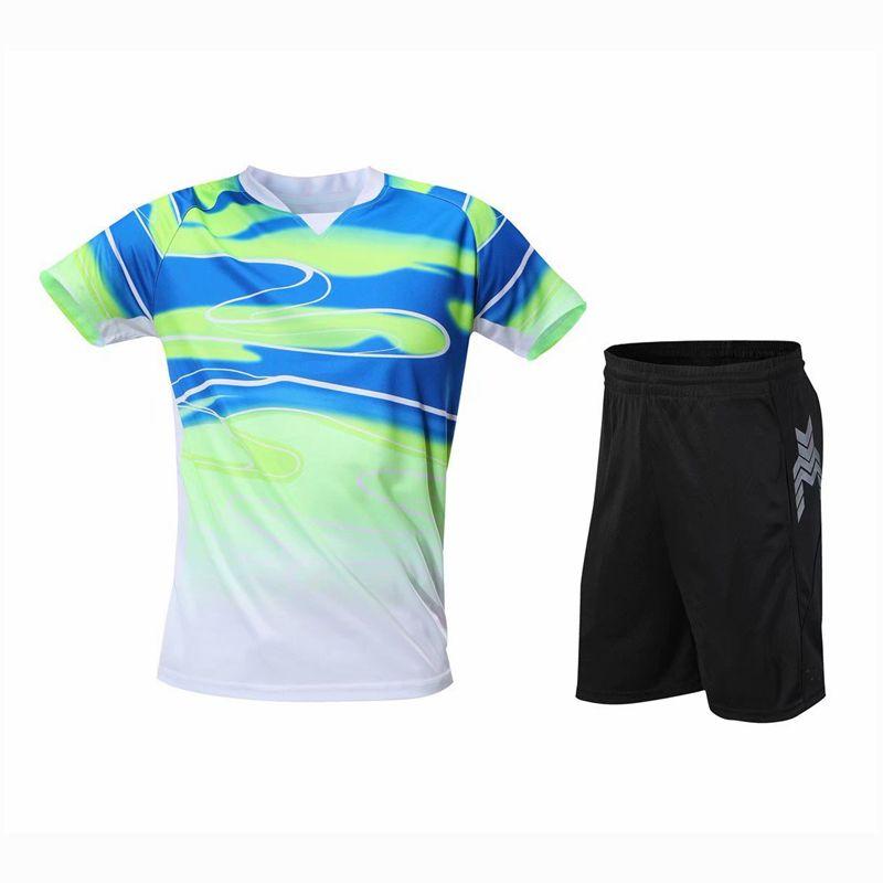 Masa Tenisi Takım Elbise Kadın / Erkekler / Çocuk Nefes Hızlı Kuru Badminton Gömlek Setleri Spor Takım Fitness Koşu Gömlek ve Şort