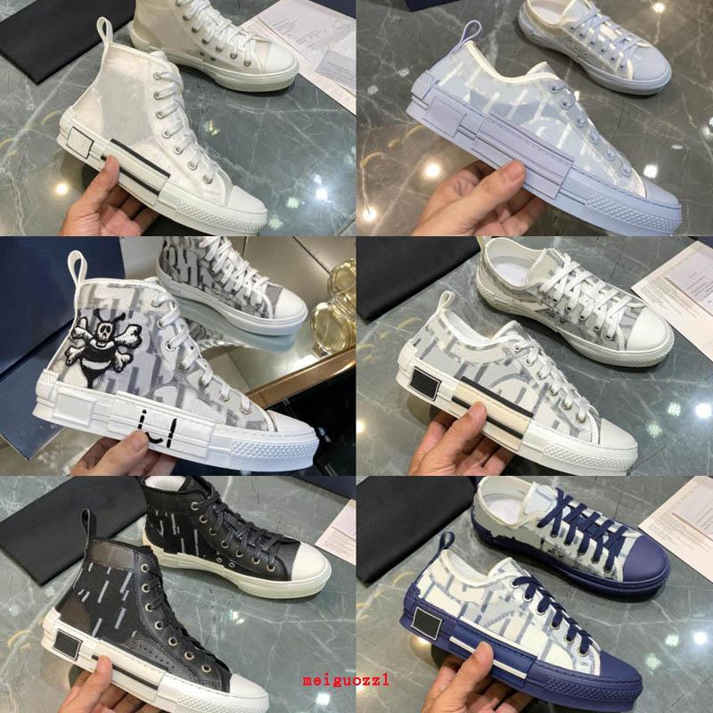 Новые дизайнерские кроссовки B23 наклонные высокие низкие верхние мужские кроссовки B24 Технические холст кожаные женщины повседневная обувь пчелы высокое качество роскоши тренеров