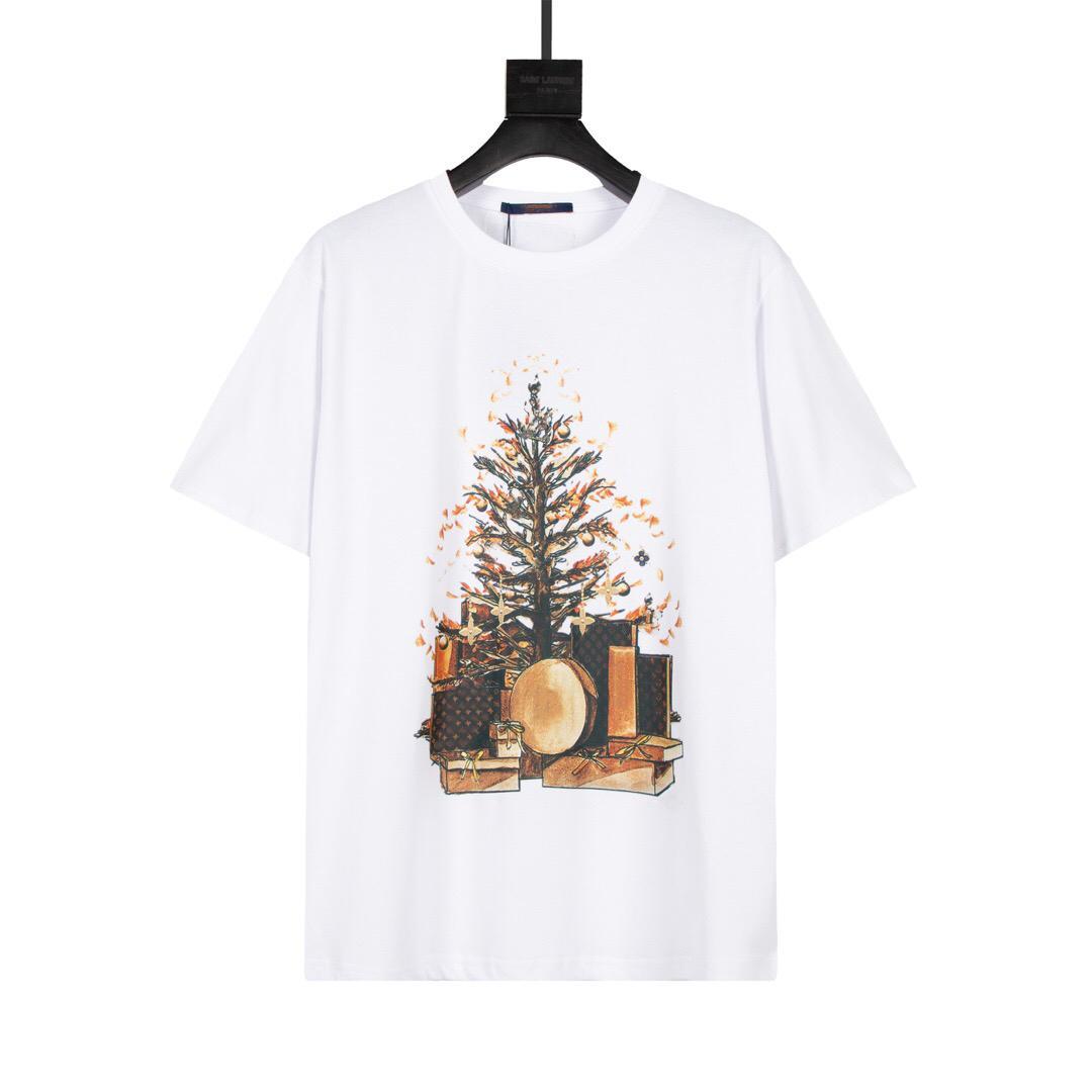 Мужские стилисты летние футболки 3d буквы печати Tee мода мужские женщины с короткими рукавами высококачественные пары платье бренд Tees размер s-2xl рождественская печать
