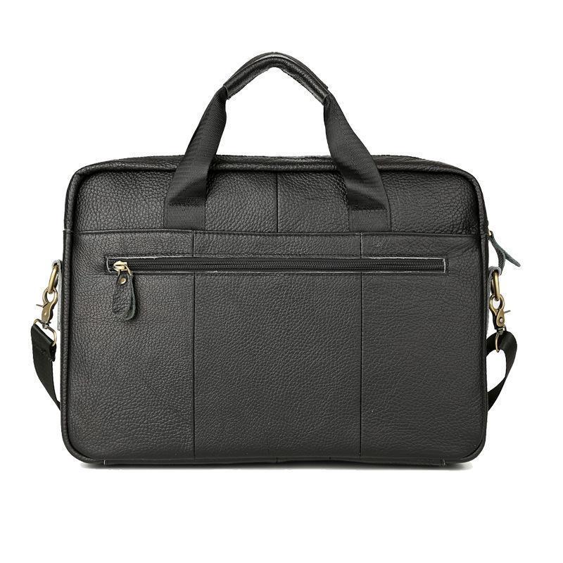 Evrak Çantaları deri dizüstü evrak çantası çanta erkekler için bilgisayar ve tablet omuz retro seyahat büyük iş tote taşıma çantası1 1CI1