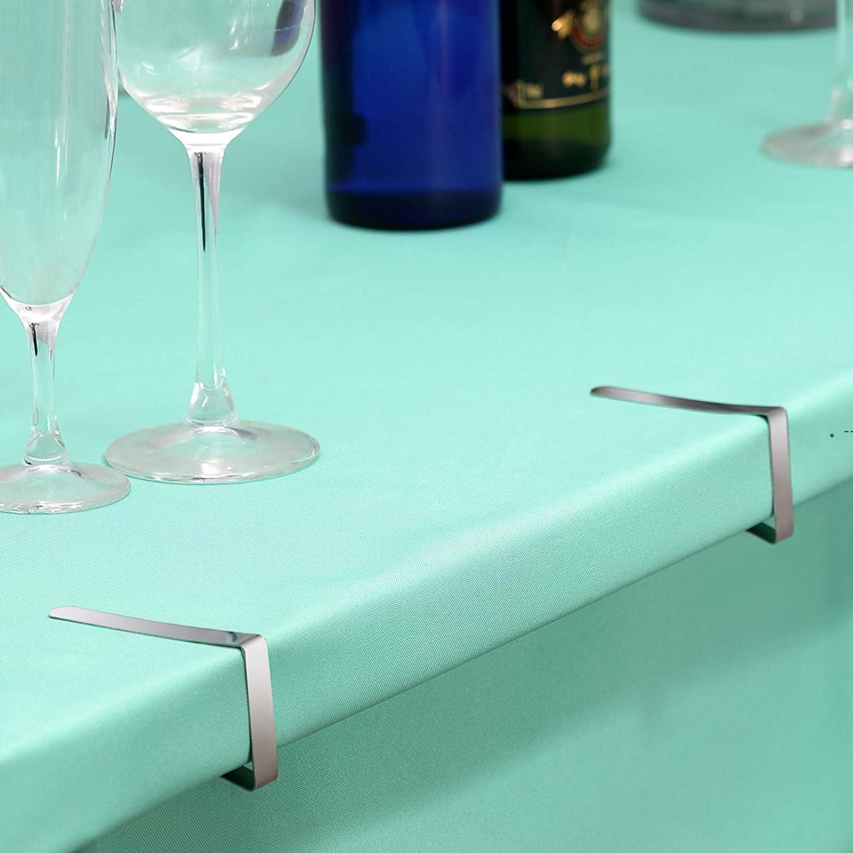 12 clips de nappe en acier inoxydable Table en acier inoxydable Table de couverture Porte-pinces pour Restaurant Pique-nica Marse Marqueurs Mariages Partie de graduation BWF9633