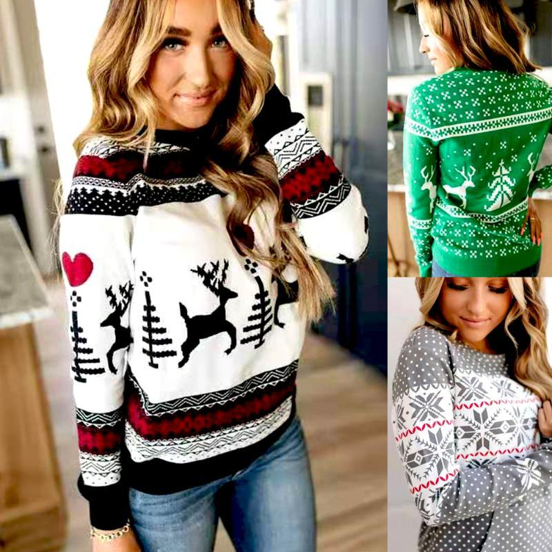 Elegant Women Sweater Tops Coat Christmas Winter Fashion Casual Ladies Girls Warm Soft Brief Sweaters For Women's
