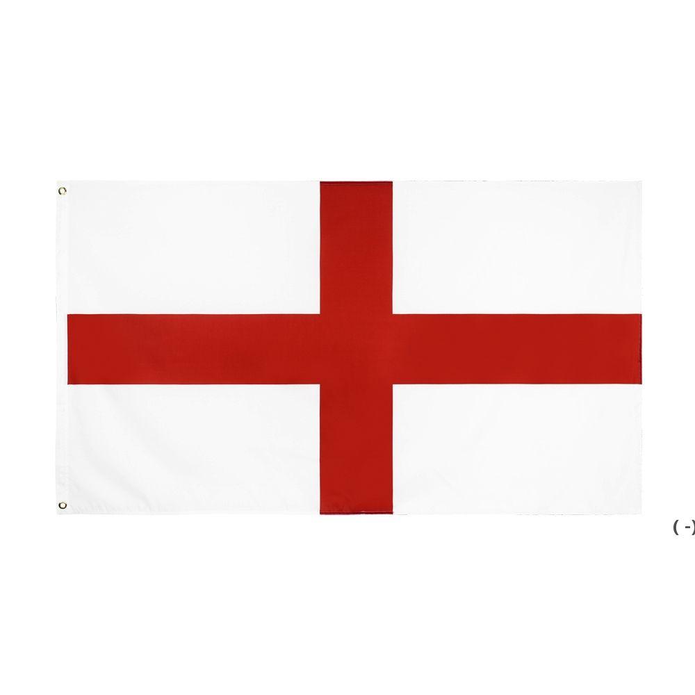 Fabrik Direkter Großhandel doppelt genäht 3x5FTs 90 * 150 cm rot kreuz uk england flagge für dekoration owd5716
