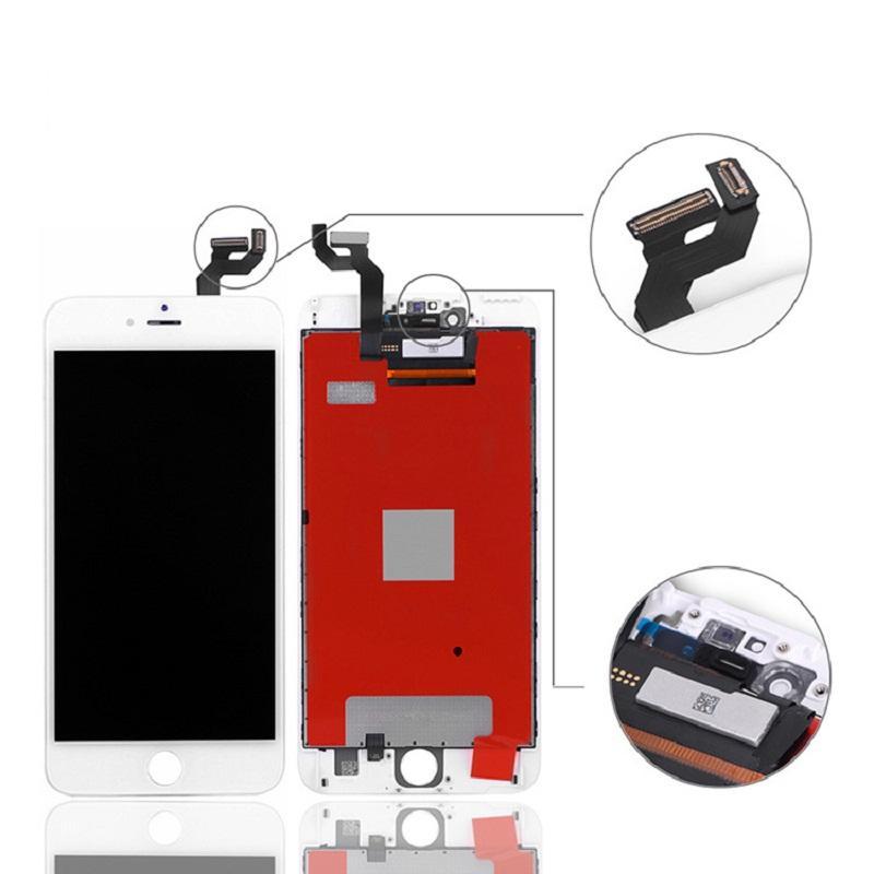 High Brigtness ЖК-панели для iPhone 6s 4.7 Оценка A +++ Дисплей Сенсорный Digitizer Экран Устройства Ремонт TFT Нет Dead Pixels 100% Тестируют Черно-белый Без пакета