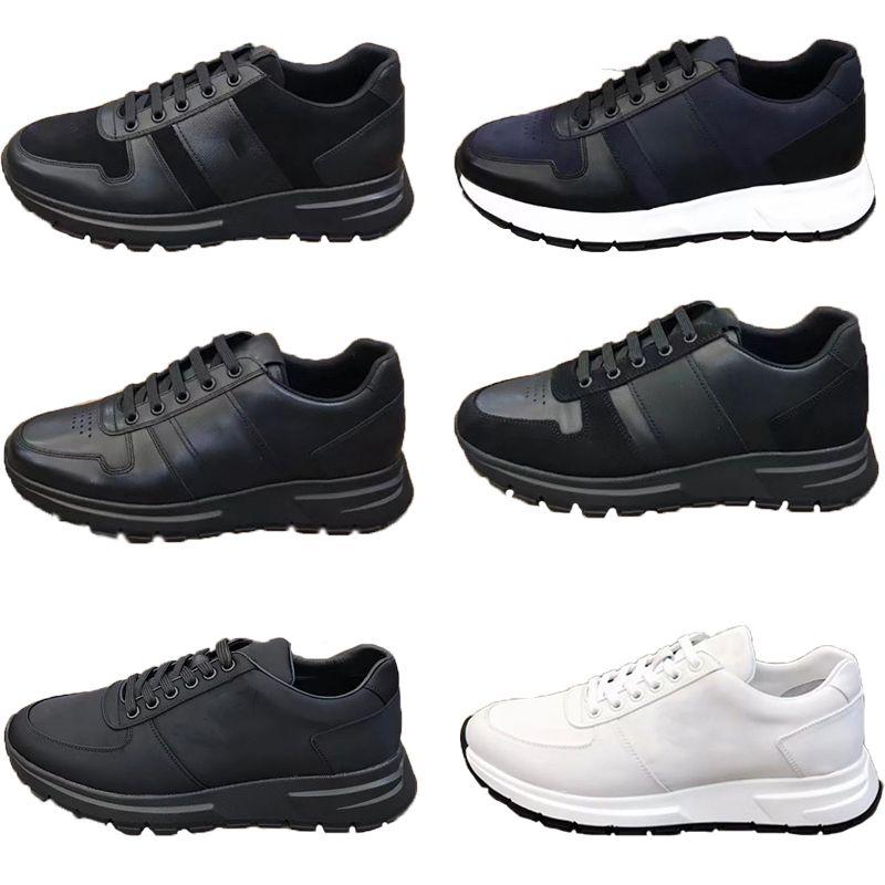 Homens Prax 01 Lace-Up Sneakers Re-Nylon Gabardine Tecido Liso Sapatos Preto Branco de Couro Plataforma Treinadores Top Quality Malha Nylon Casual Sapato de Corredor Casual com Box 276