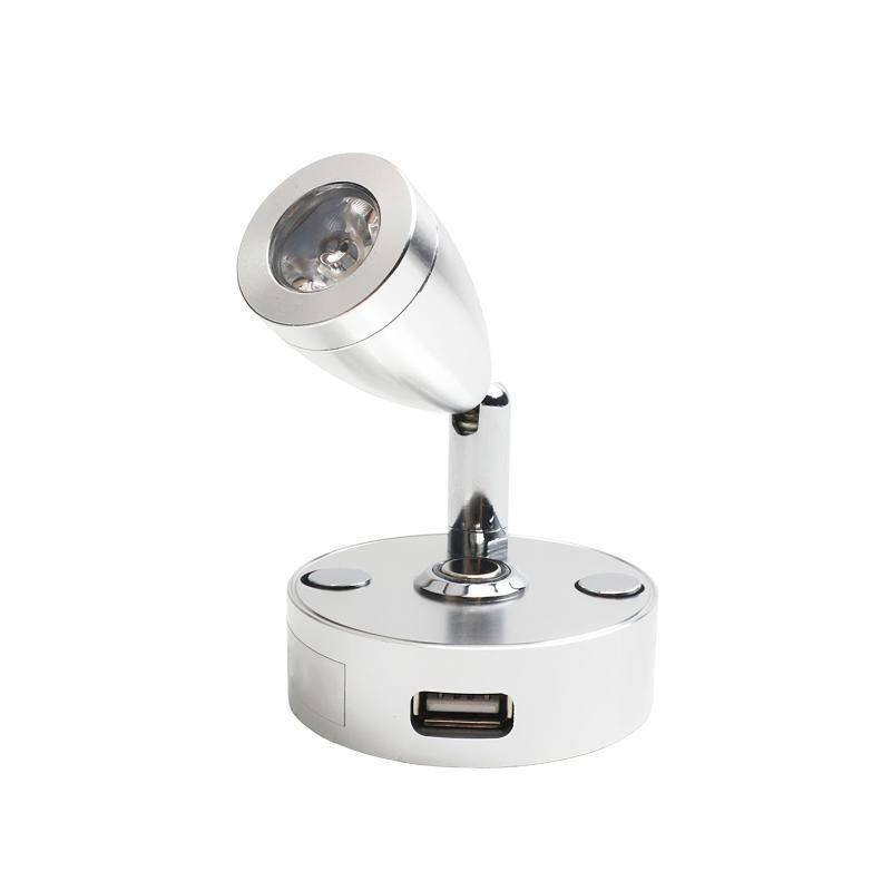스포트 라이트 독서 빛 실내 스포트 알루미늄 합금 실버 벽 램프 보트 요트 모터 홈 캐러밴