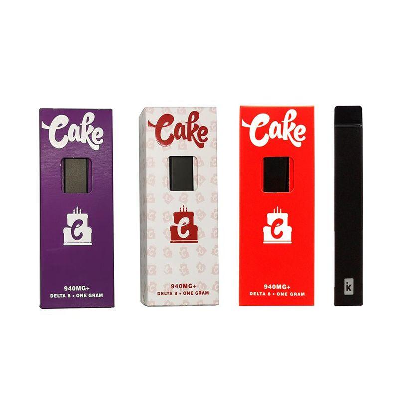 Kuchen Delta 8 Einweg-E-Zigaretten-Gerät Full Gram-Kapazität leerer Pod wiederaufladbar Vape-Stift 280mAh-Batterie für dickes Öl vs bar plus bang xxl