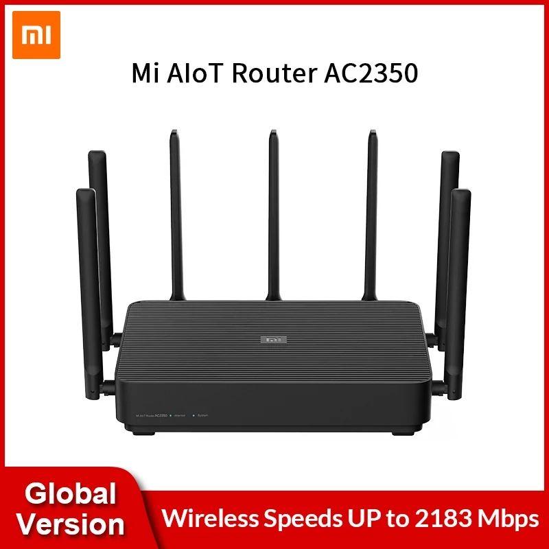Versão Global Xiaomi Mi Aiot Router AC2350 Gigabit 2183Mbps Dual-Band Wifi MI Router Sem Fio com 7 Altas Antenas Ganho mais