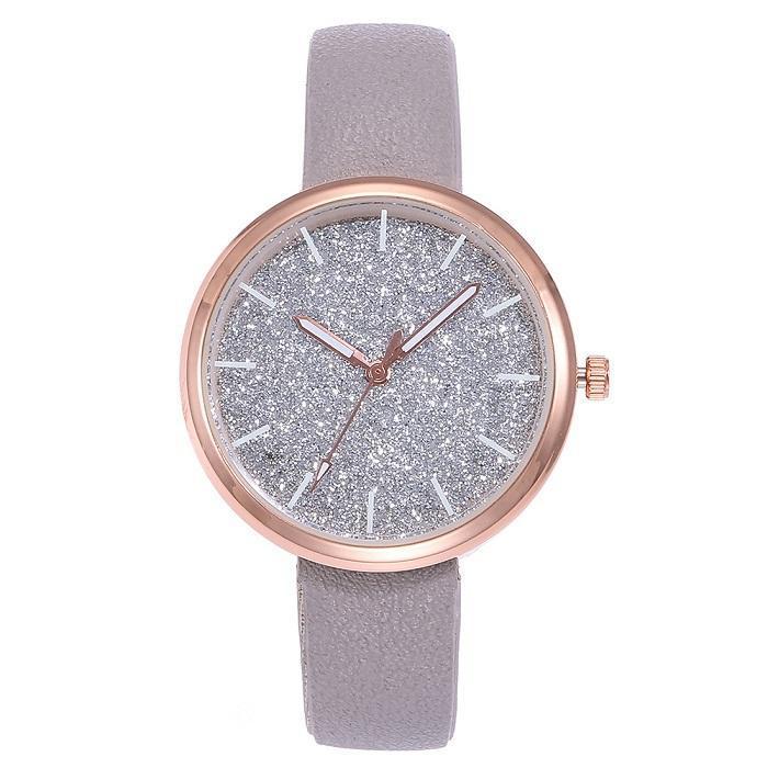 Lüks Casual Kadınlar Romantik Yıldızlı Gökyüzü Bilek İzle Deri Rhinestone Tasarımcı Bayanlar Saat Basit Elbise Relojes Para Mujer B2 Saatı